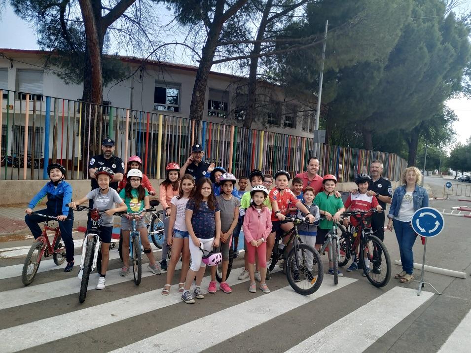 clases de Educación y Seguridad Vial en los colegios de Herencia - La policía local imparte clases de Educación y Seguridad Vial en los colegios del municipio