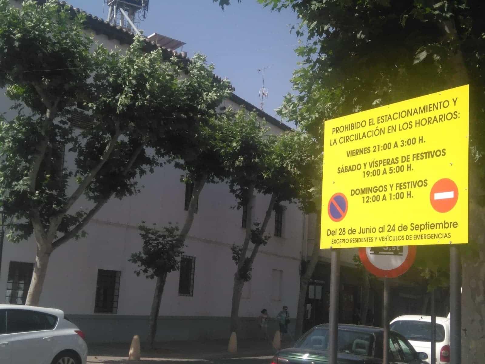 Comienzan los cortes de tráfico en el centro de Herencia, fines de semana y festivos 3