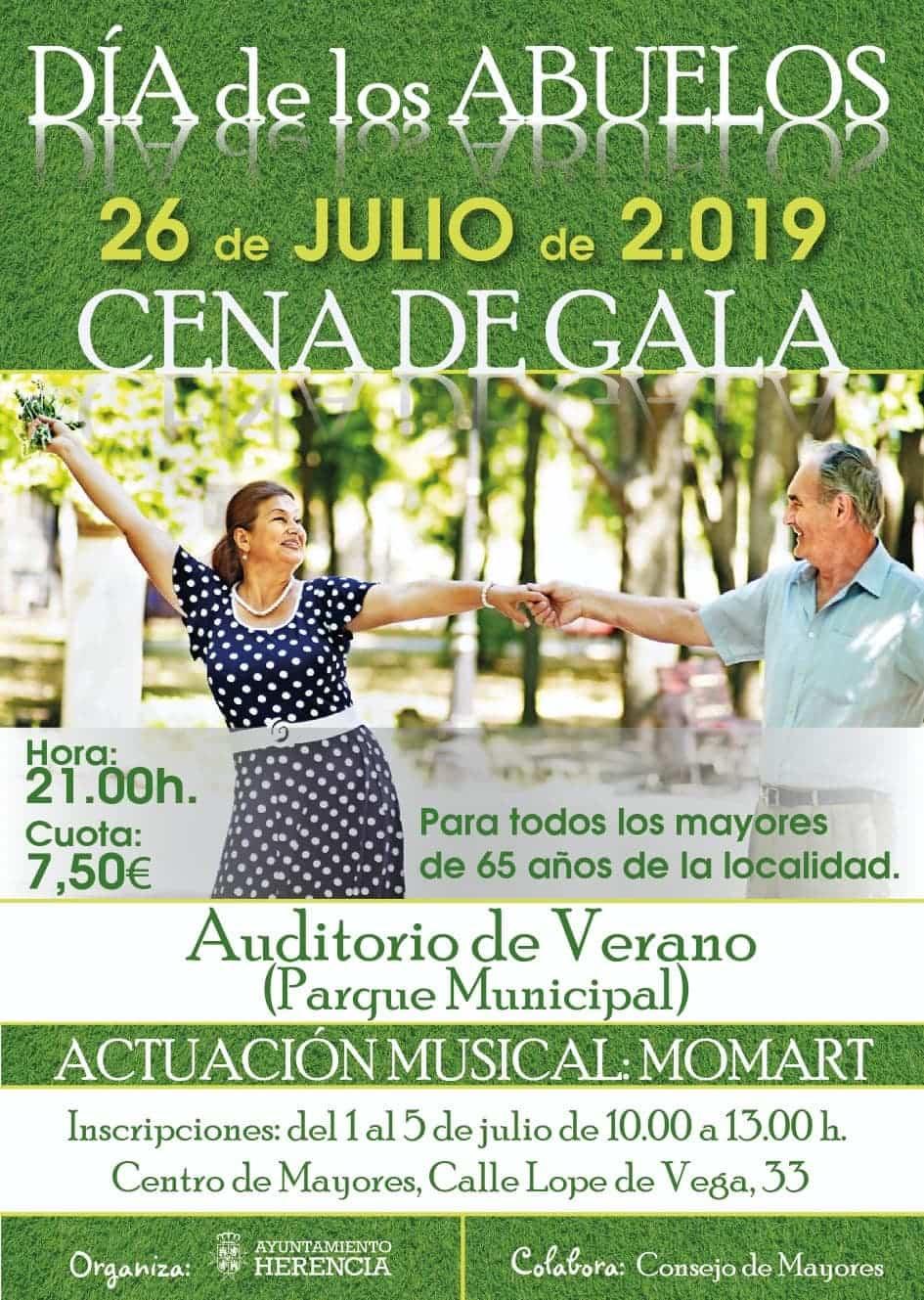 dia de los abuelos en herencia - Cena del Gala por el Día de los Abuelos 2019 en Herencia