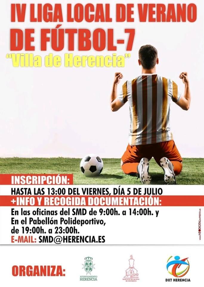 liga local de verano de f%C3%BAtbol 7 en herencia - Cuarta liga local de verano de fútbol 7 Villa de Herencia