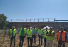 Comienzan las obras sobre el puente del Río Cigüela en la carretera que une Herencia y Manzanares
