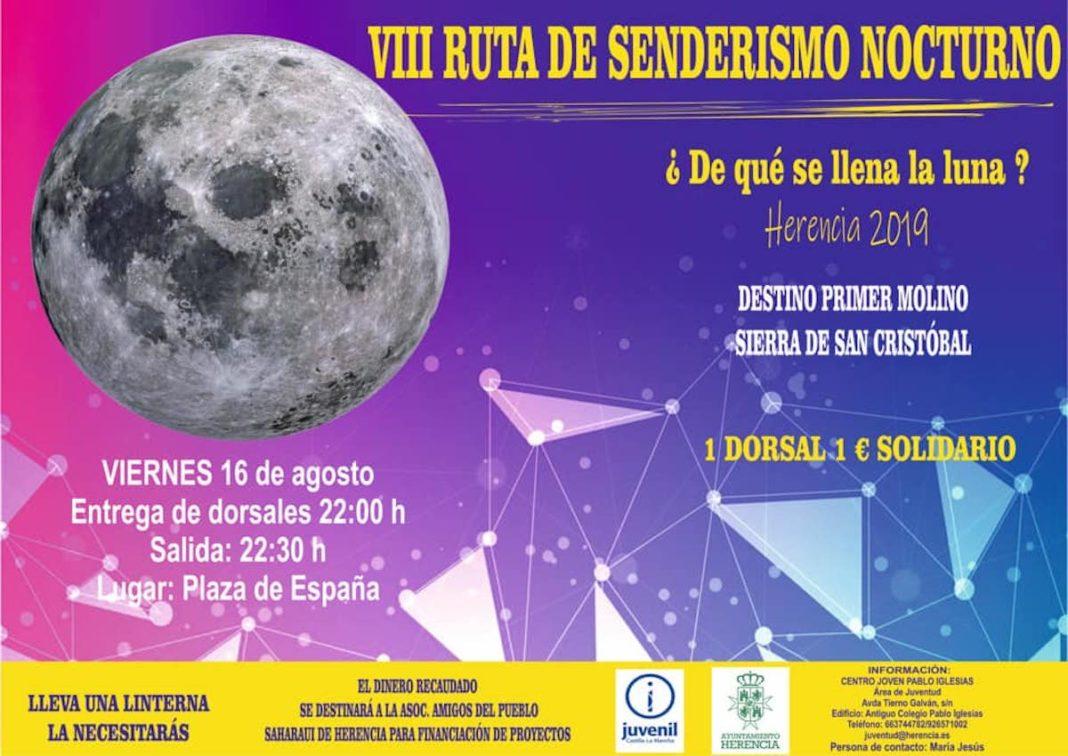 VIII ruta senderismo nocturno herencia 1068x756 - VIII Ruta de Senderismo Nocturno en Herencia