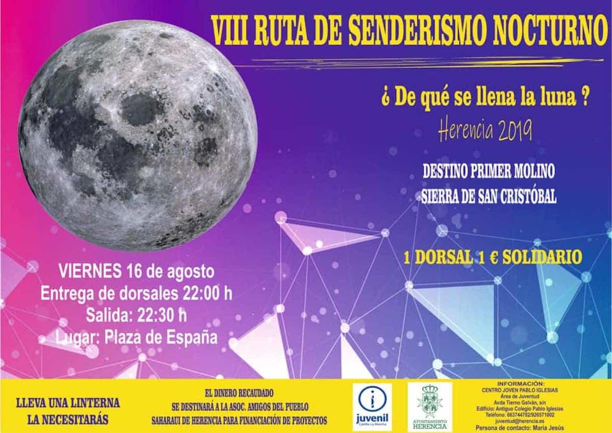 VIII ruta senderismo nocturno herencia - VIII Ruta de Senderismo Nocturno en Herencia
