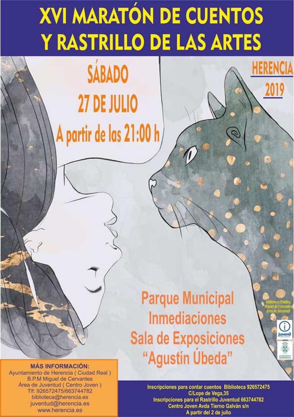 XVI Maraton de Cuentos y Rastrillo de las Artes en Herencia - XVI Maratón de Cuentos y Rastrillo de las Artes en Herencia
