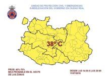Alerta amarilla por altas temperaturas en Herencia