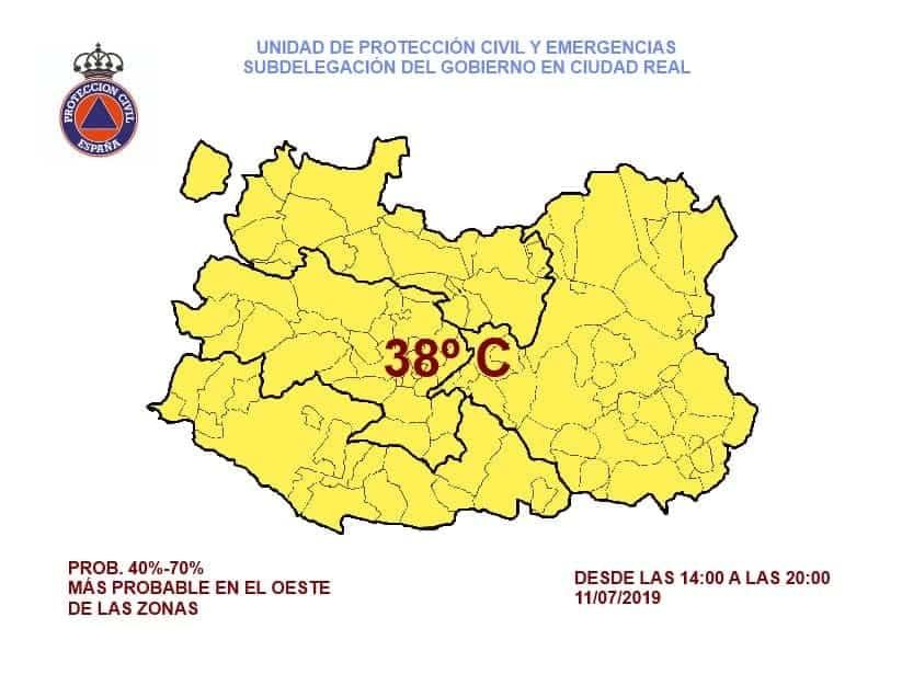 altas temperaturas herencia - Alerta amarilla por altas temperaturas en Herencia
