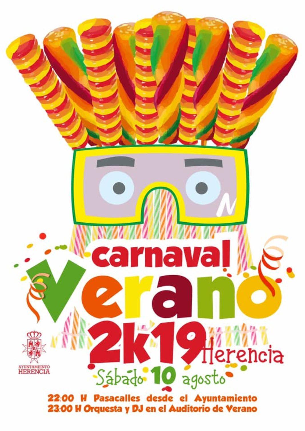 carnaval de verano herencia 2019 1068x1512 - Carnaval de Verano repite en Herencia el 10 de agosto
