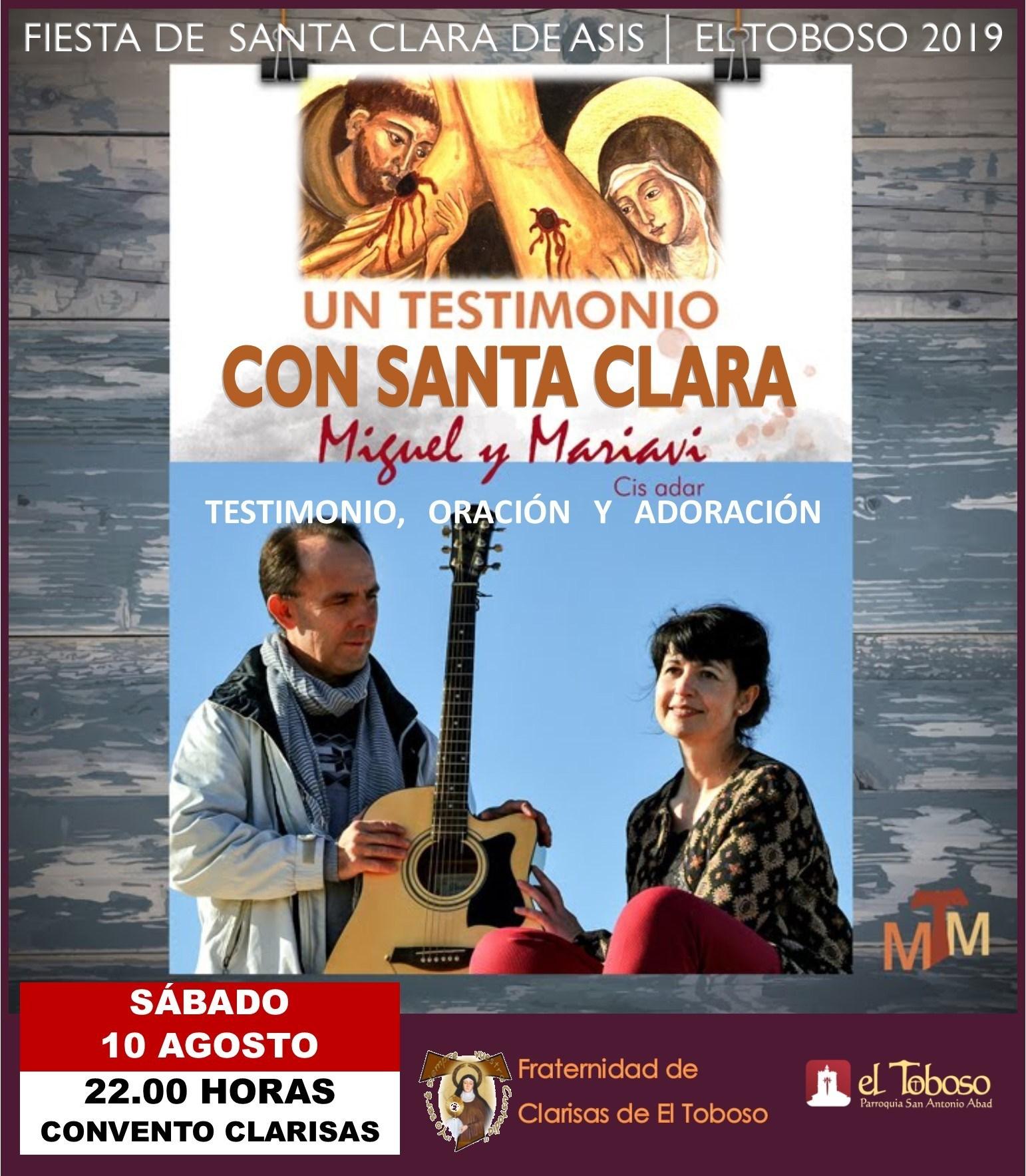 2019 08 10 SANTA CLARA 2019 Concierto de Oración 2019 - Concierto testimonio de Cis Adar en El Toboso