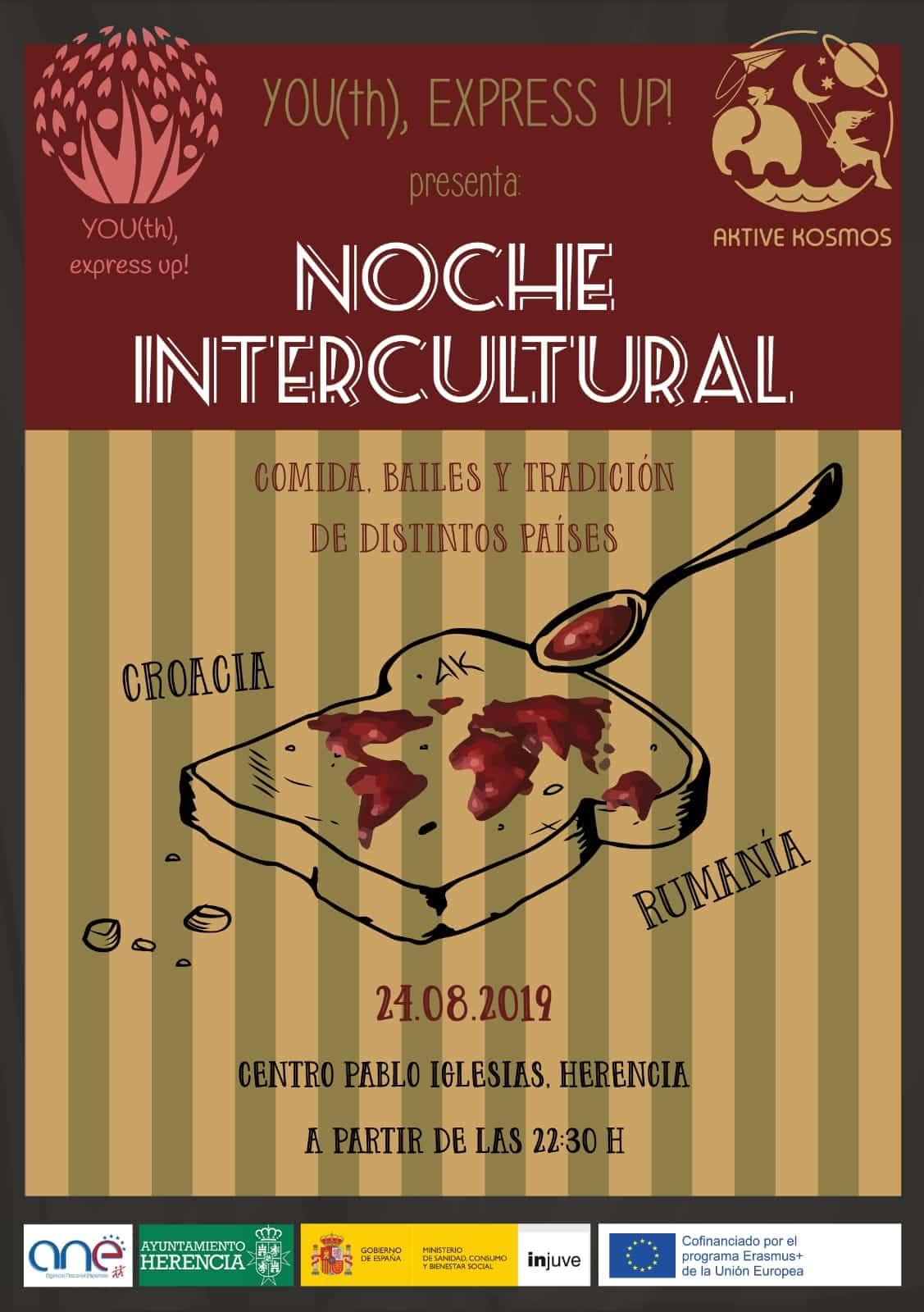 Segunda Noche Intercultural del proyecto Erasmus+ Youth Express Up! 3