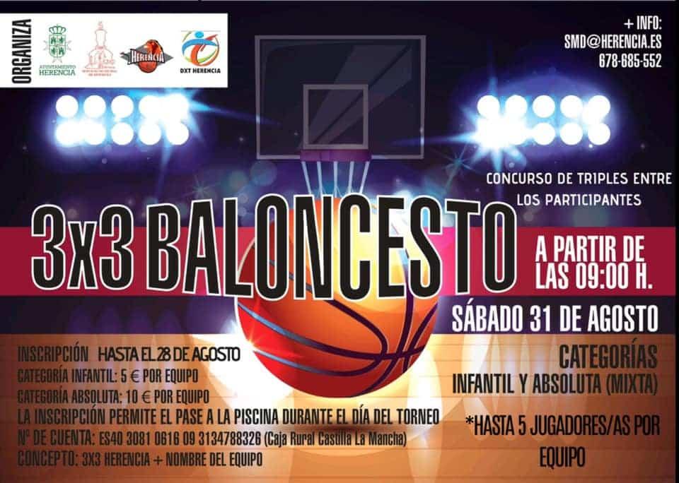 Abiertas inscripciones para el Torneo 3x3 de Baloncesto en Herencia 3