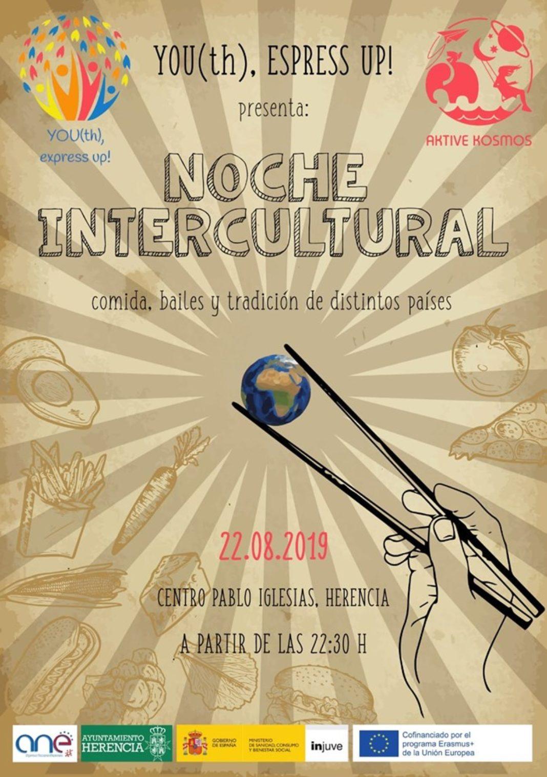 Noche Intercultural de la mano de Aktive Kosmos y el proyecto Erasmus+ Youth Express Up! 4