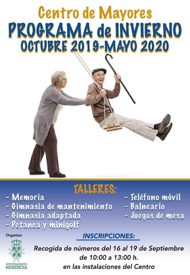 CARTEL PROGRAMA INVIERNO 2019 - El Centro de Mayores de Herencia presenta su nuevo programa de actividades para el próximo curso