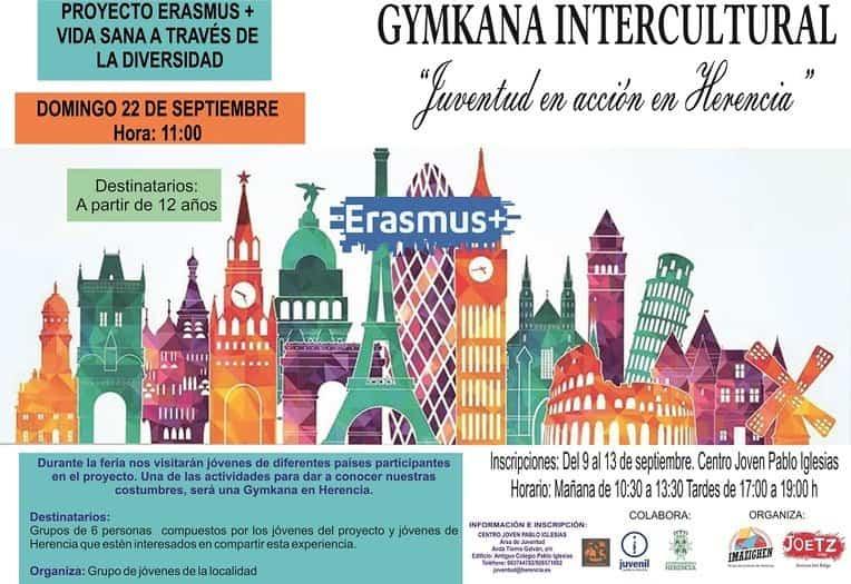 Carteleria Gymkana Intercultural. Feria 2019 1 - Gymkana Intercultural para una feria y fiestas Erasmus+