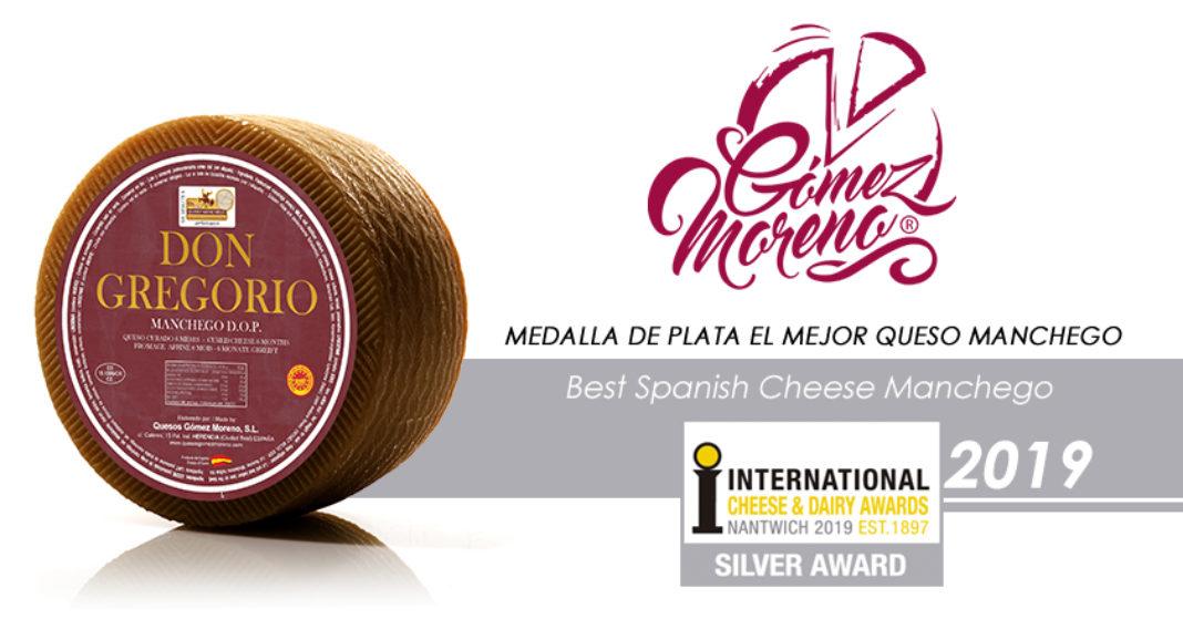 Don Gregorio Medalla de plata en International Cheese Awards 2019 1068x559 - Quesos Gómez Moreno premiado en el International Cheese  Awards 2019