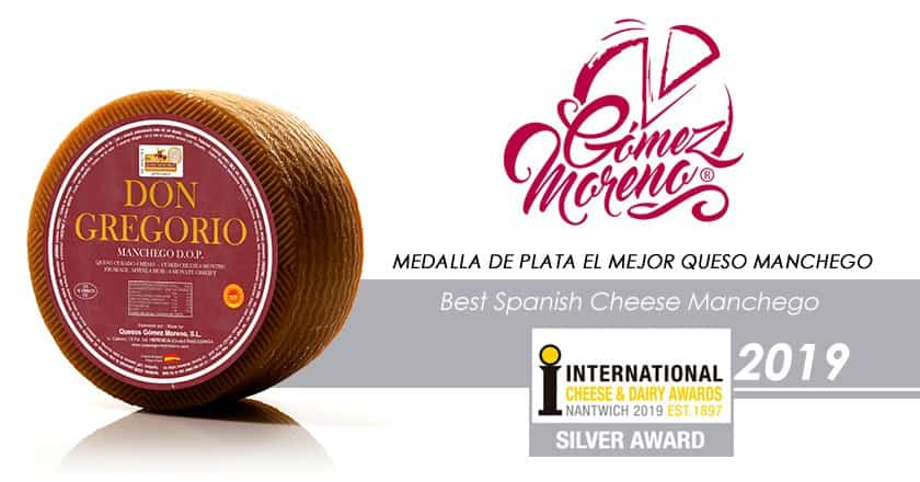 Don Gregorio Medalla de plata en International Cheese Awards 2019 - Quesos Gómez Moreno premiado en el International Cheese  Awards 2019