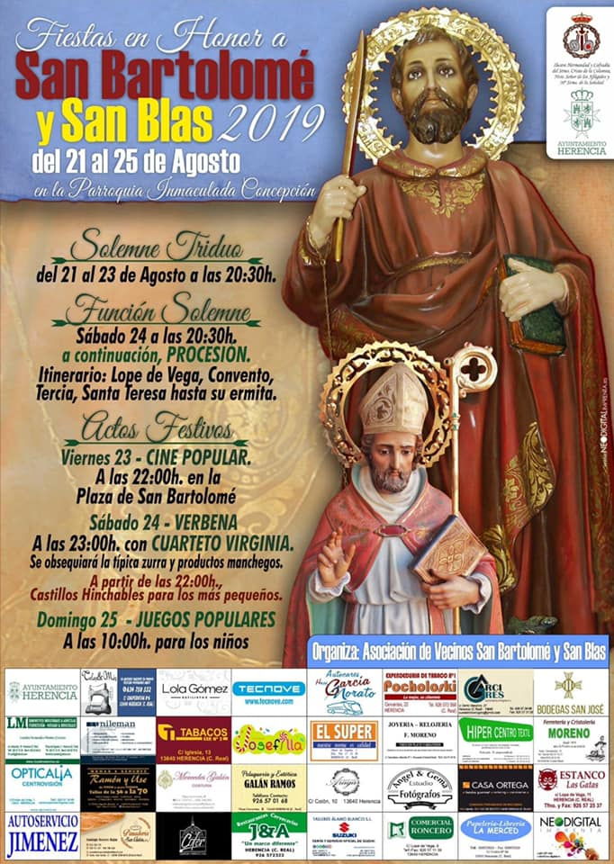 Fiestas en honor a San Bartolomé - Herencia prepara las fiestas en honor a San Bartolomé 2019