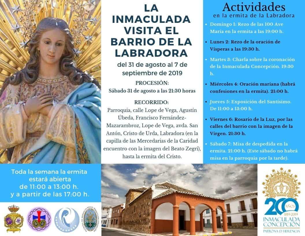 Inmaculada Labradora 3 - La imagen de la Inmaculada visita el barrio de la Labradora