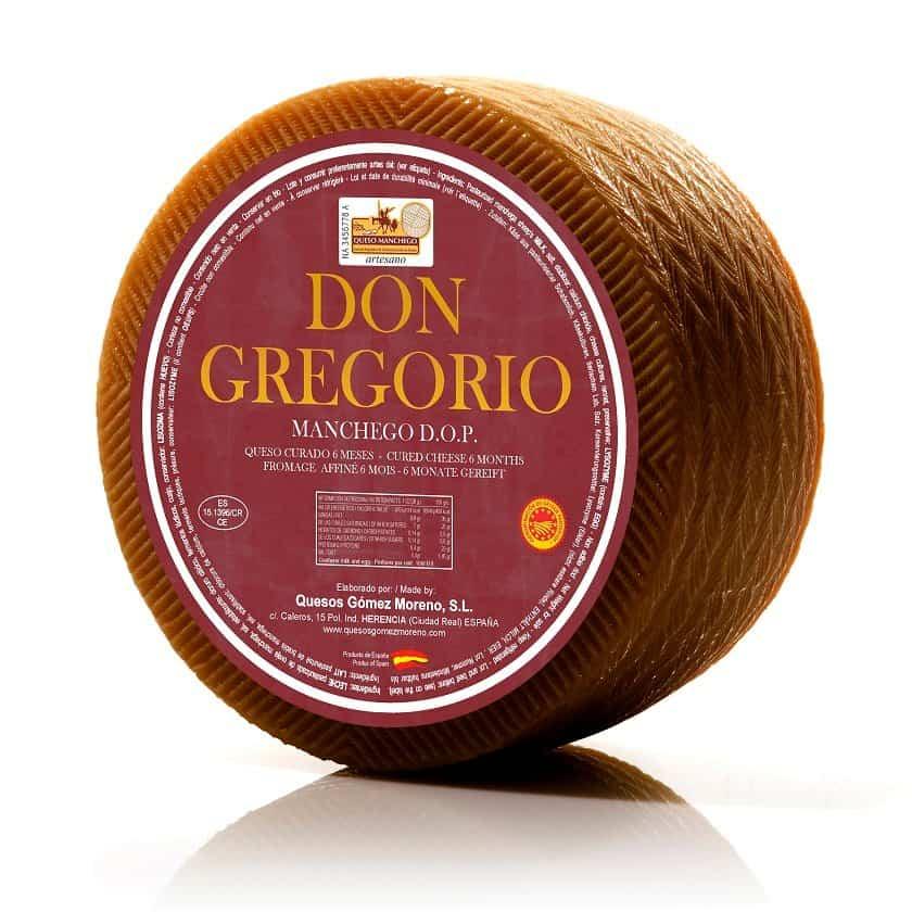 Queso Curado Artesano pasteurizado Don Gregorio - Quesos Gómez Moreno premiado en el International Cheese  Awards 2019