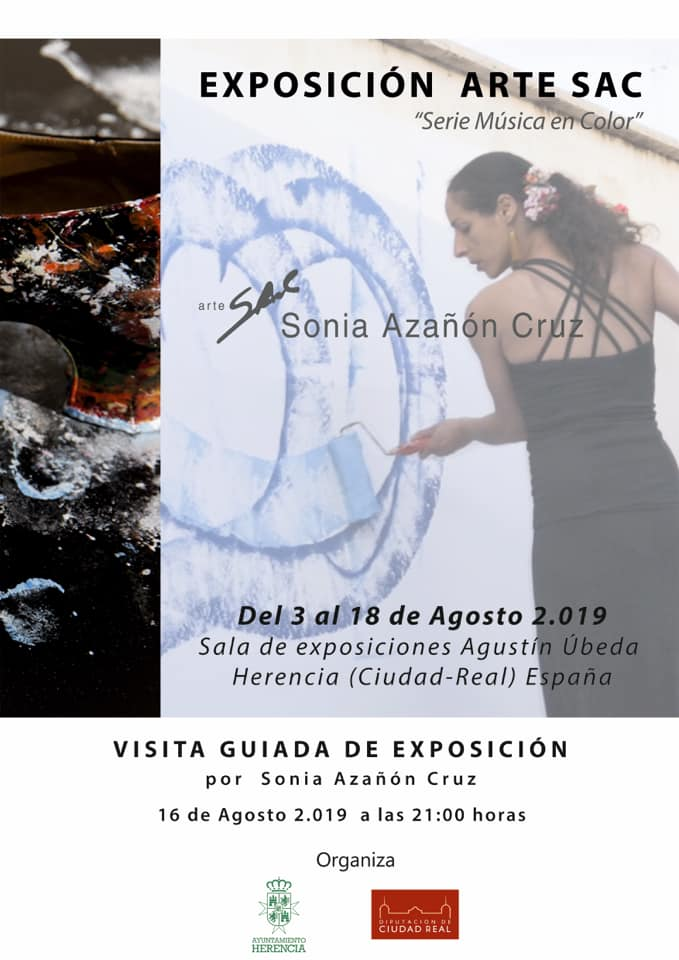 Visita Guiada exposición Arte SAC - Sonia Azañón Cruz presenta su exposición Arte SAC Serie Música en Color