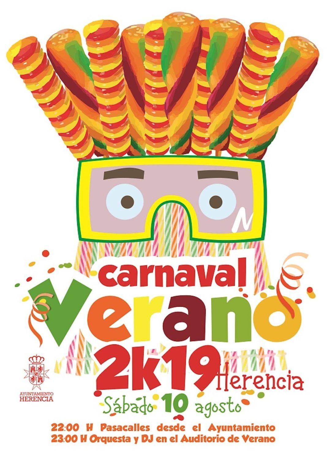 cartel carnaval de verano herencia ciudad real castilla la mancha spain 1068x1511 - Herencia prepara el auténtico Carnaval de verano manchego