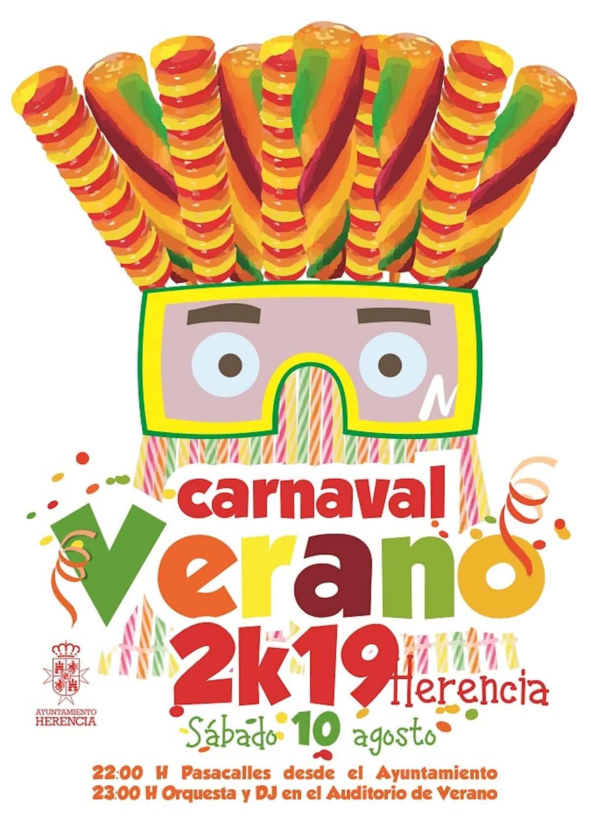 cartel carnaval de verano herencia ciudad real castilla la mancha spain - Herencia prepara el auténtico Carnaval de verano manchego