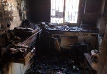 Calcinada una cocina en Herencia por el incendio de una sartén