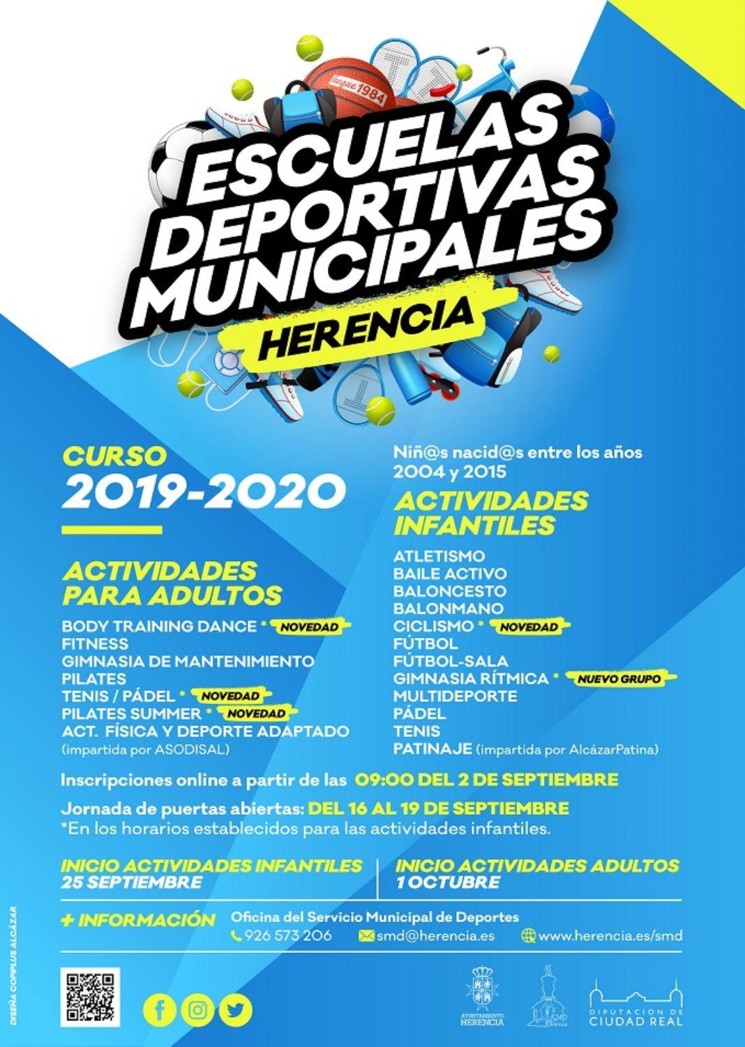 escuelas deportivas herencia 2019 2020 1068x1502 - Novedades en el inicio de las Escuelas Deportivas de Herencia
