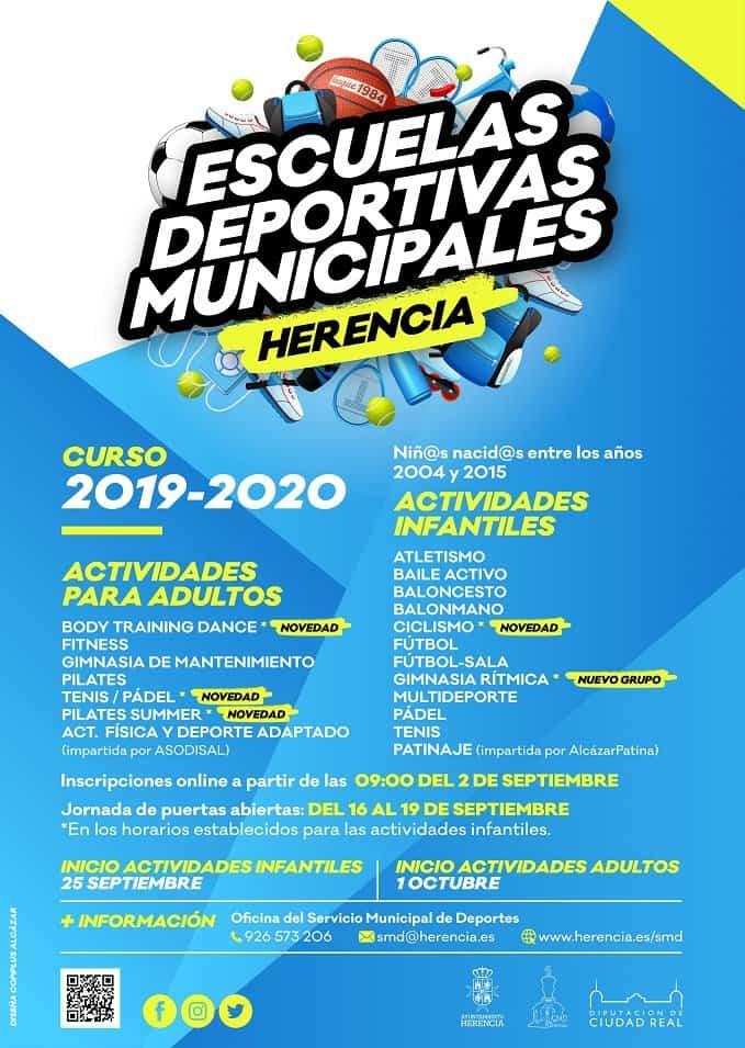 escuelas deportivas herencia 2019 2020 - Novedades en el inicio de las Escuelas Deportivas de Herencia
