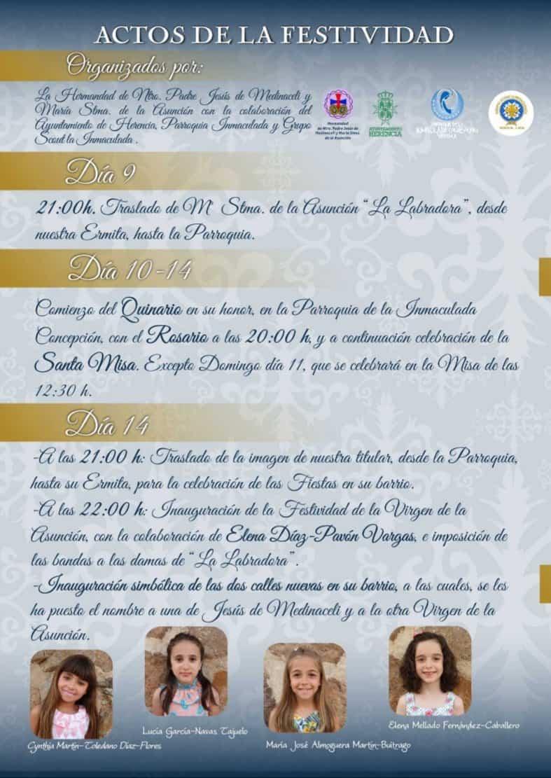 fiestas de la Labradora 2019 en Herencia1 - Programa de fiestas en honor a María Santísima de la Asunción en Herencia