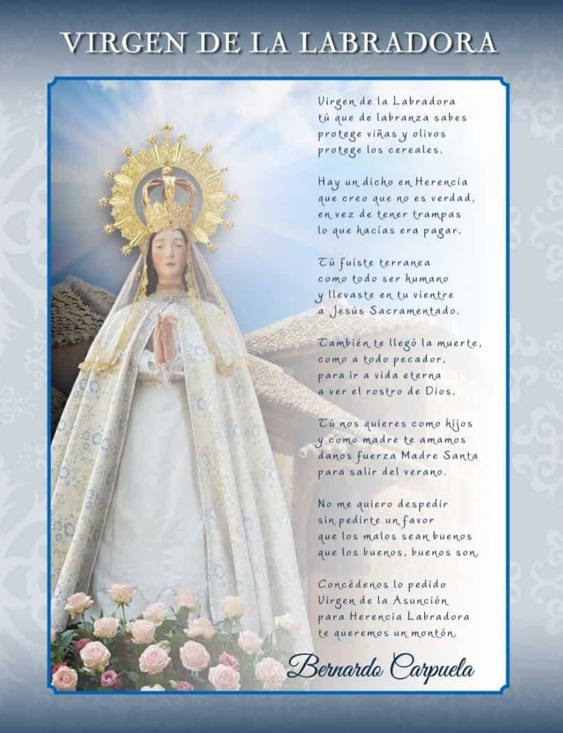 Programa de fiestas en honor a María Santísima de la Asunción en Herencia 12