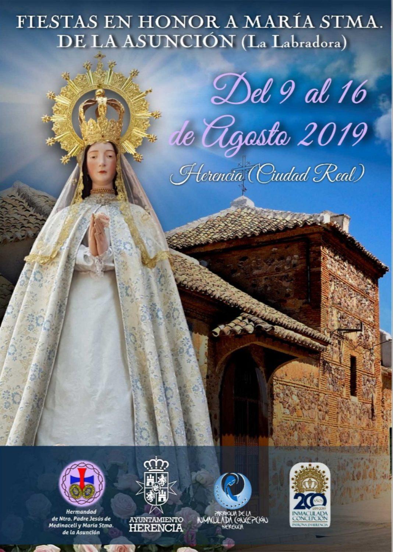fiestas de la Labradora 2019 en Herencia3 1068x1501 - Programa de fiestas en honor a María Santísima de la Asunción en Herencia