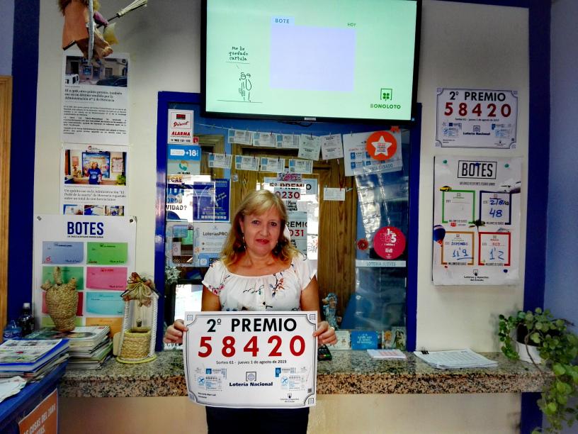 Herencia agraciada con un segundo premio de la Lotería Nacional 3