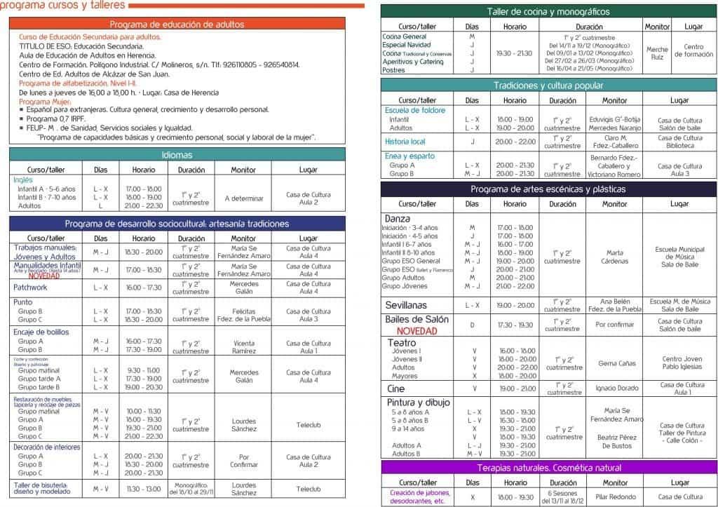 0954 2019 UP Folleto 2019 B 1024x723 - La Universidad Popular Herencia decenas de cursos, talleres y actividades