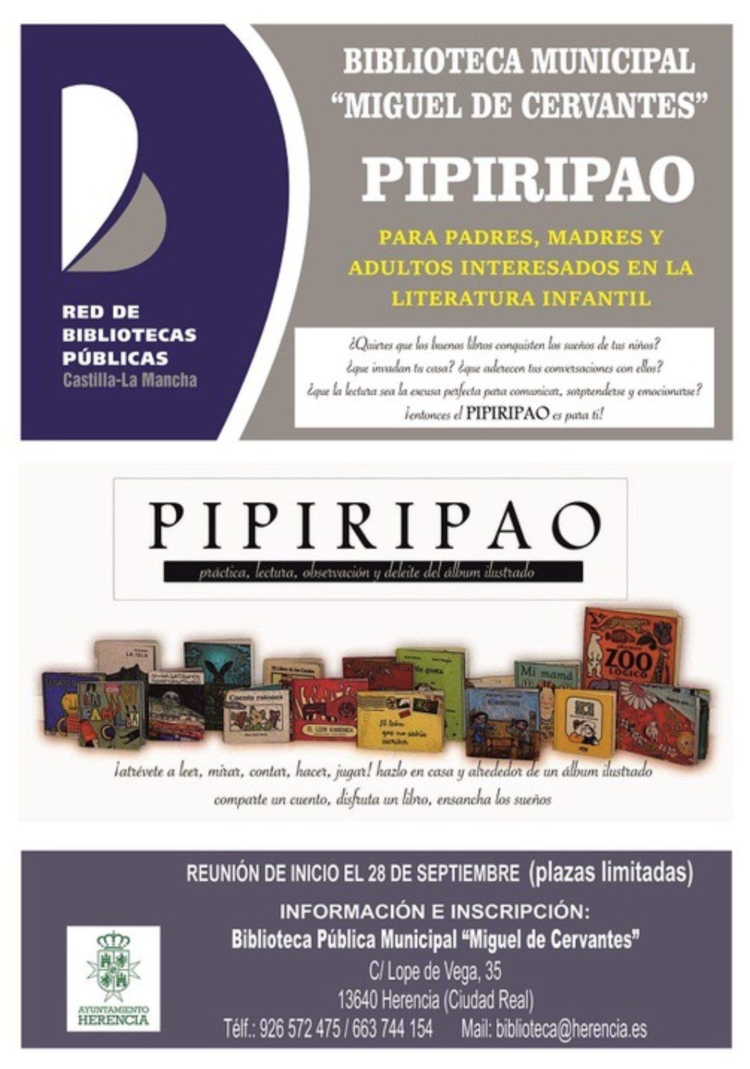 """Cartel Pipiripao 19 20 1068x1522 - La biblioteca municipal prepara una nueva edición del """"Pipiripao"""""""