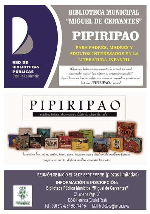 """Cartel Pipiripao 19 20 - La biblioteca municipal prepara una nueva edición del """"Pipiripao"""""""