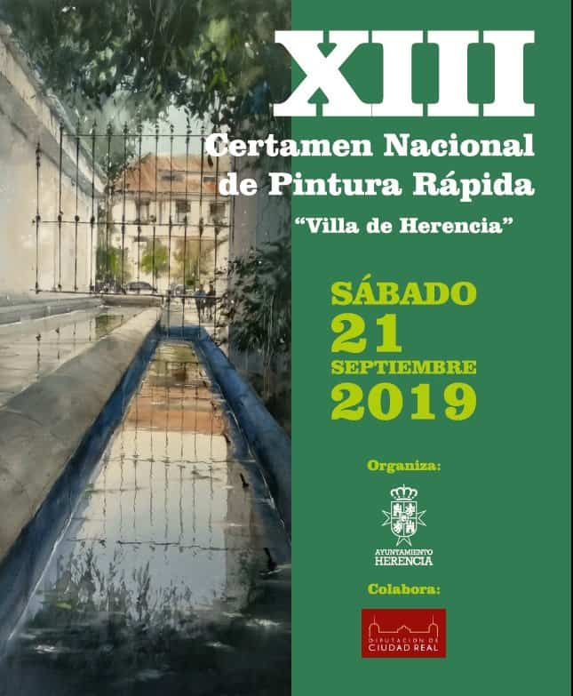 Certamen Pintura - Convocado el Décimo Tercer Certamen de Pintura Rápida Villa de Herencia