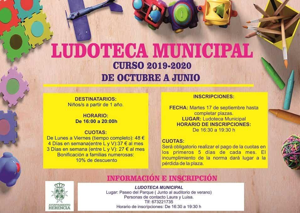 LUDOTECA DE INVIERNO 2019 2020 - El 17 de septiembre se abre el periodo de inscripción para la ludoteca municipal de invierno