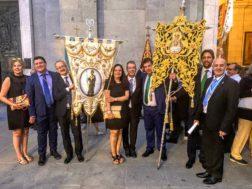 Las hermandades de San José y del Santo acompañan a la Real Esclavitud de Santa María la Real de la Almudena en la celebración de su festividad1