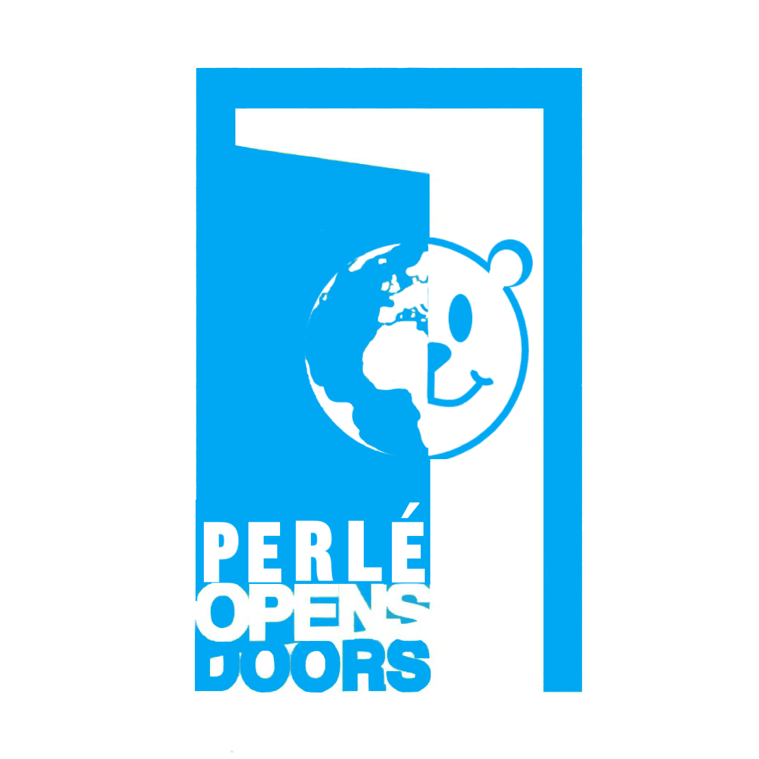 Logo de la iniciativa PERLE OPENS DOORS - ¿Qué hacen 5 ositos de peluche vestidos de Perlé viajando por el mundo?