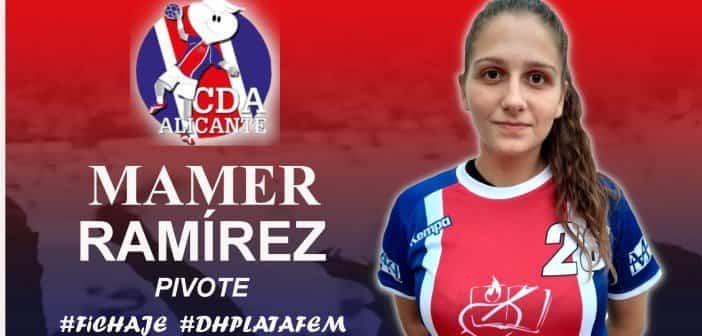 Mamer Ramirez fichaje pivote - María Mercedes Ramírez del Pozo Mora ficha por el CD Agustinos Alicante de balonmano femenino