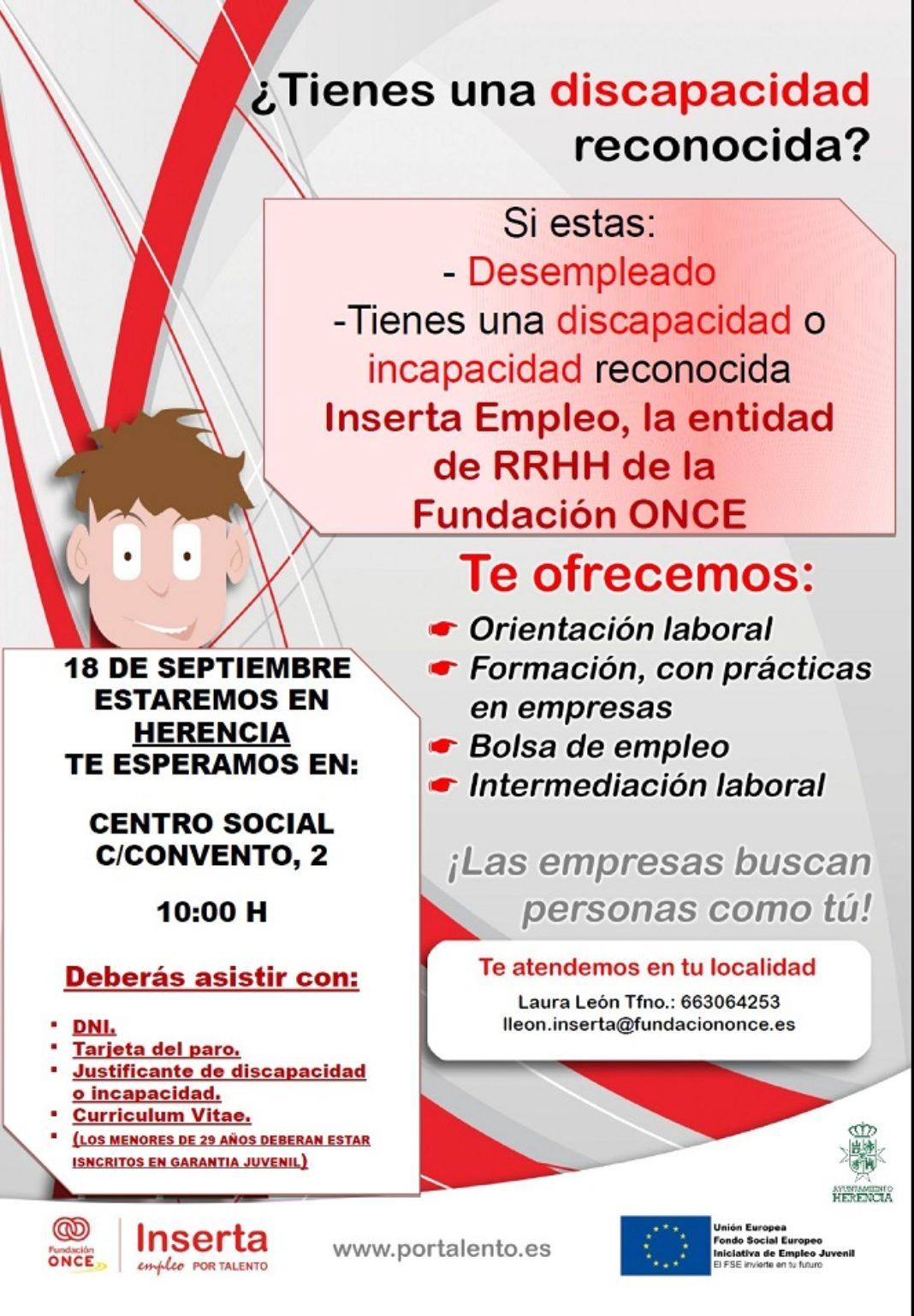 Sesión informativa de empleo 1068x1538 - Sesión informativa de empleo y formación para personas con discapacidad o incapacidad reconocida