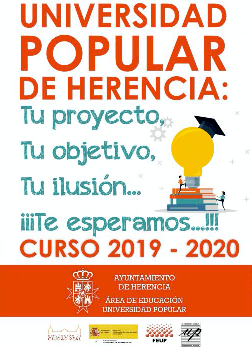 Universidad Popular de Herencia - La Universidad Popular Herencia decenas de cursos, talleres y actividades