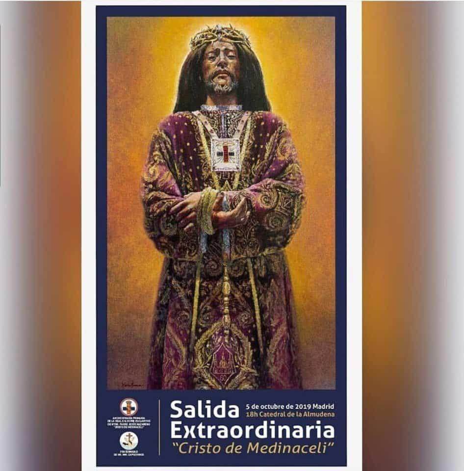 cartel extraordinario Medinaceli Madrid - La hermandad de Medinaceli de Herencia estará presente en la salida extraordinaria de Medinaceli de Madrid