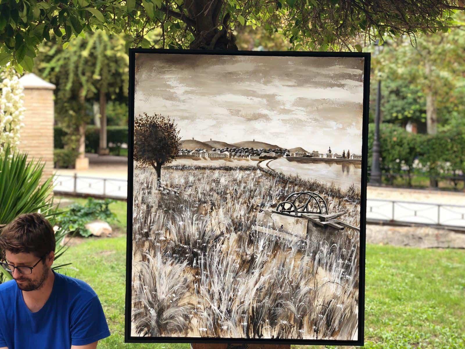 """certamen pintura rapida 2019 herencia 12 - Celebrado el XIII Certamen Nacional de Pintura Rápida """"Villa de Herencia"""""""