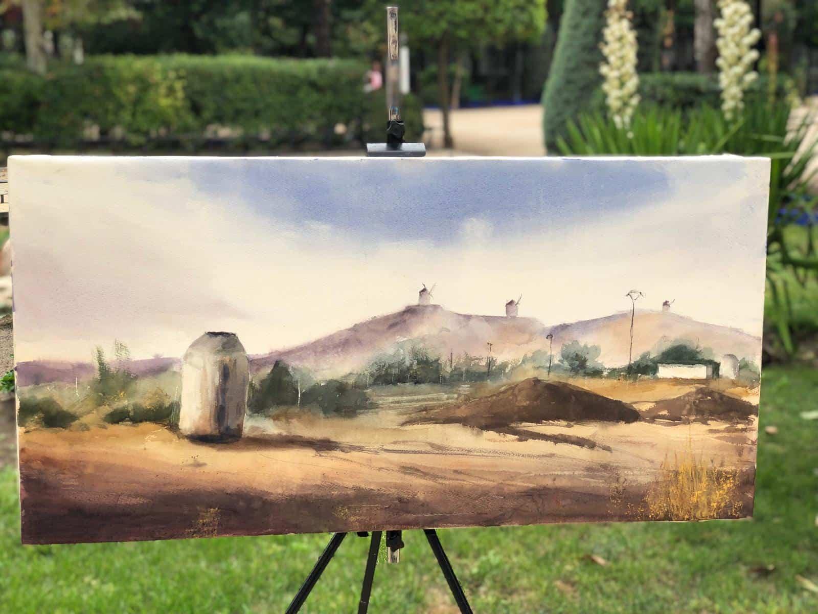 """certamen pintura rapida 2019 herencia 3 - Celebrado el XIII Certamen Nacional de Pintura Rápida """"Villa de Herencia"""""""