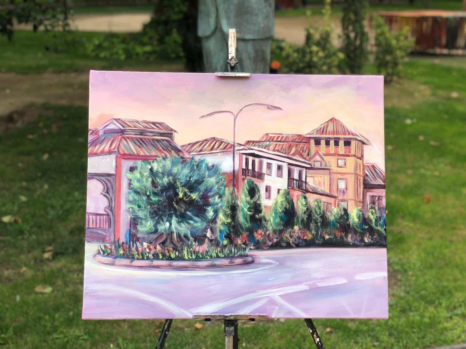 """certamen pintura rapida 2019 herencia 4 - Celebrado el XIII Certamen Nacional de Pintura Rápida """"Villa de Herencia"""""""