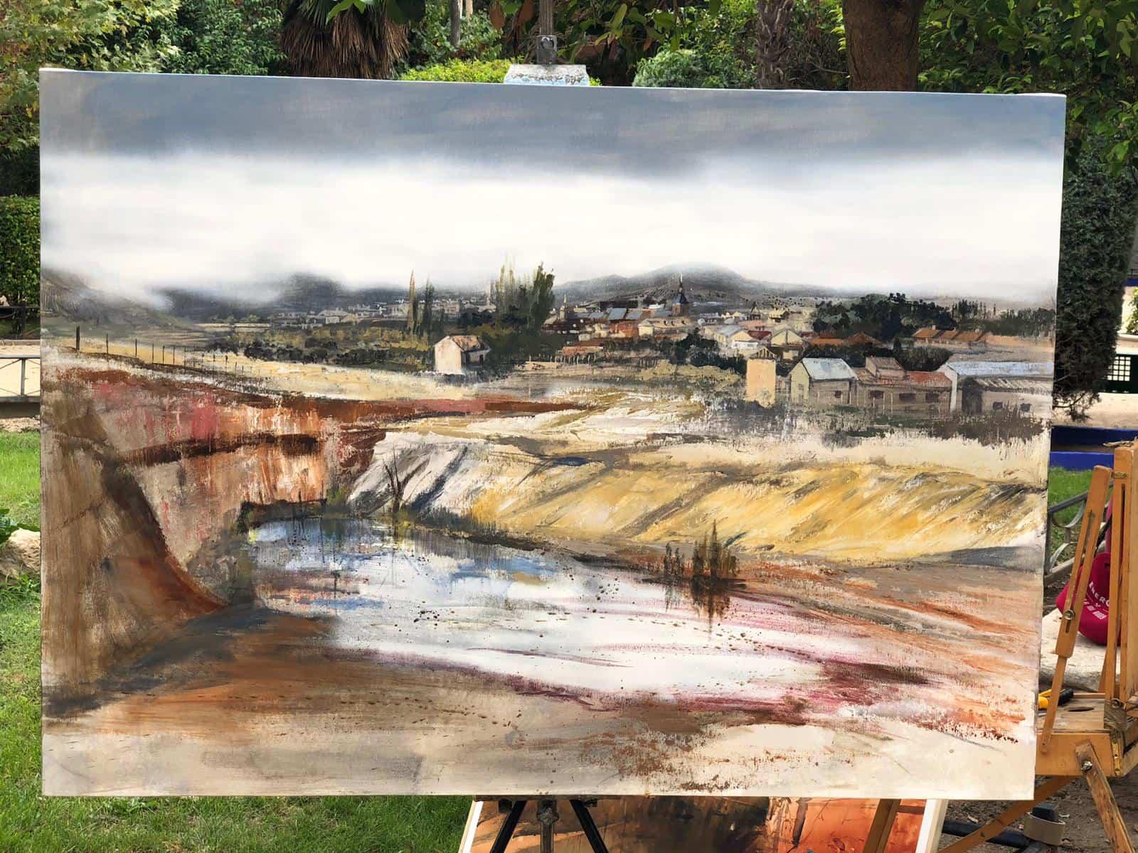 """certamen pintura rapida 2019 herencia 6 - Celebrado el XIII Certamen Nacional de Pintura Rápida """"Villa de Herencia"""""""