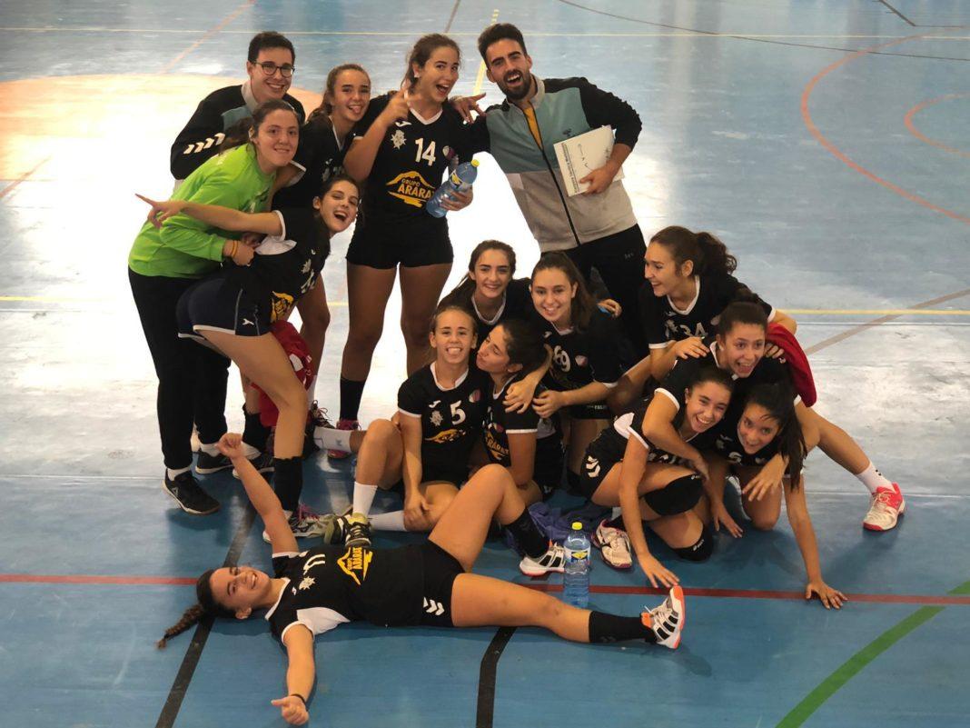 juvenil femenino herencia terceras copa diputacion 1068x801 - Juvenil Femenino de Balonmano terceros en la Copa Diputación