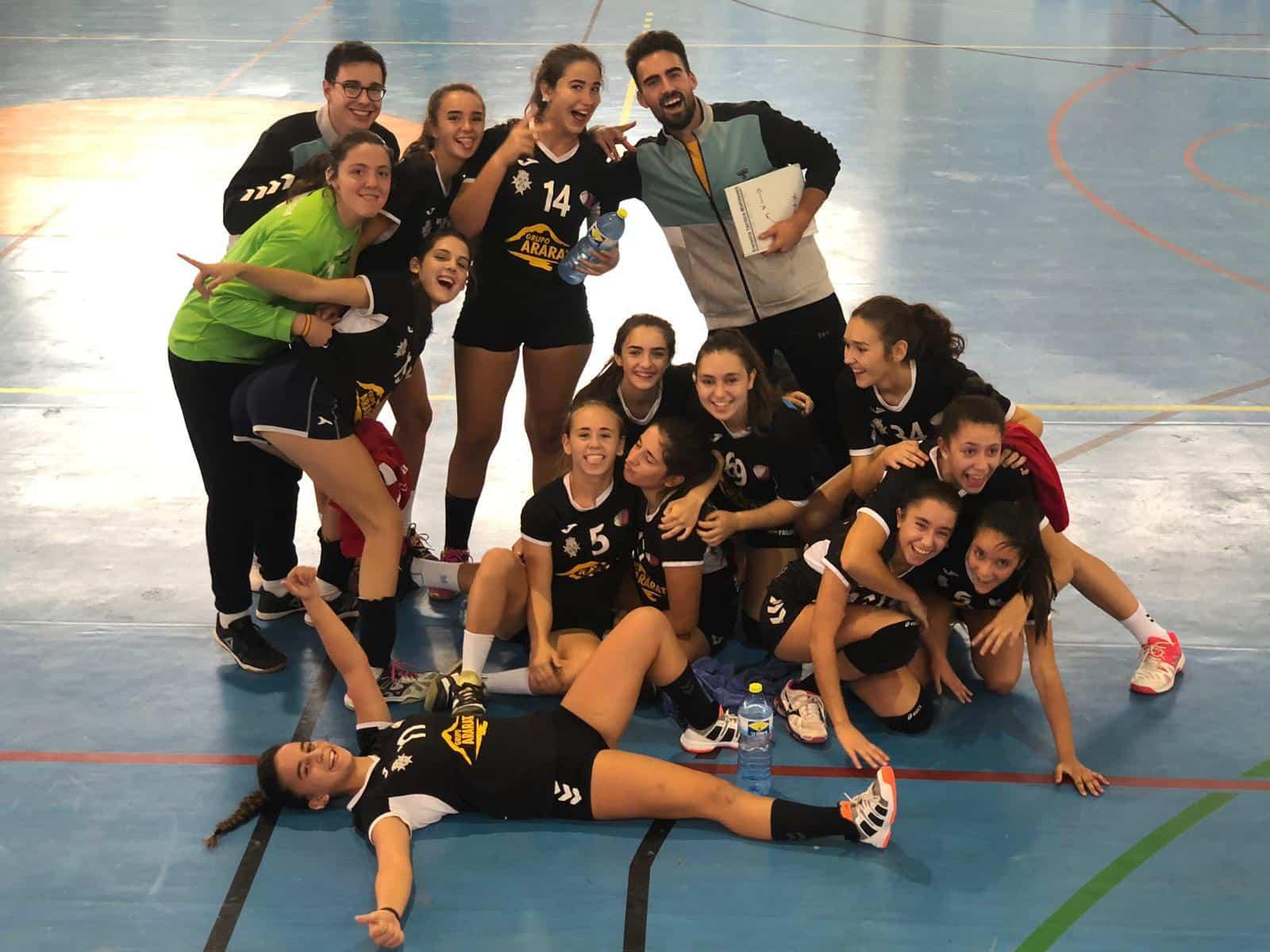 juvenil femenino herencia terceras copa diputacion - Juvenil Femenino de Balonmano terceros en la Copa Diputación