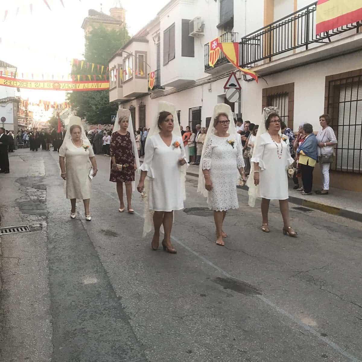 magna procesion feria fiestas 2019 herencia 9 - Magna procesión de nuestra Santísima Madre cierra la Feria y Fiestas herenciana
